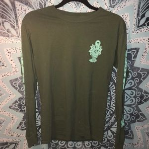 Fresh Vibes Green Long Sleeve Shirt
